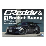 1/24 AOSHIMA TOYOTA 86 12 GREDDY&ROCKET BUNNY VOLK RACING Ver.