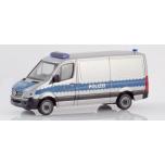 """1/87 Herpa Mercedes-Benz Sprinter Kasten Flachdach """"Polizei Sachsen"""""""
