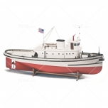 1:50 Hoga Pearl Harbor Tugboat -Wooden hull