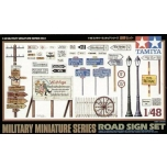 1/48 TAMIYA Road sign set