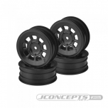 "JConcepts 9 shot - B6.1 | YZ2 | XB2 | RB7 | KC, KD, 2.2"" front wheel (black) - 4pc"