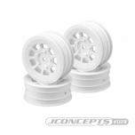 "JConcepts 9 shot - B6.1 | YZ2 | XB2 | RB7 | KC, KD, 2.2"" front wheel (white) - 4pc"