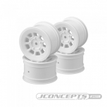 "JConcepts 9 shot - B6.1, B74 | YZ2, YZ4 | XB2, XB4 | RB7, ZX7 | SRX-2, SDX-4 | KC, KD, L1 | D418, 2.2"" rear wheel (white) - 4pc"