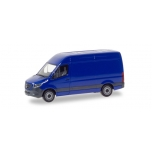 1/87 Mercedes-Benz Sprinter box type with high roof, ultramarine blue Herpa