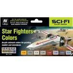 Vallejo värvikomplekt Star Fighters Colors 8x17m