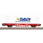 1/87 H0 Container car DAL DB AG VI w. 40 Container PIKO