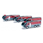 1/500 Airport accessories fire engine set Content: 4 pieces