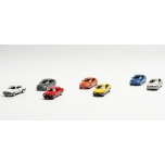 """1/87 H0 Herpa Set with 7 models """"7 generations of BMW 3-series"""""""