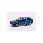 1/87 H0 Herpa VW Golf II GTI with sport rims, blue metallic