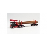 1/87 Volvo FH FD Doll long timber truck, black/red Herpa