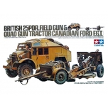 1/35 TAMIYA BRITISH 25PDR.FIELD GUN& QUAD GUN TRACTOR