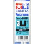 Tamiya stüreenist U-profiilvardad 3mm 5tk modeleerimiseks