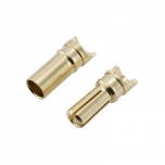 Gold (banana) connectors 3,5 mm plug - flat (with cutout) (male + female)