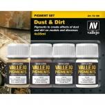 Vallejo Pigmendi komplekt Dust&Dirt 4x35ml