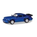 1/87 Porsche 911 Turbo, blue metallic Herpa