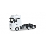 1/87 Mercedes-Benz Actros Gigaspace 6x4 rigid tractor, white Herpa