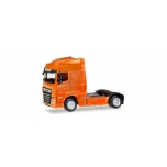 1/87 DAF XF Euro 6 SC rigid tractor facelift, orange Herpa