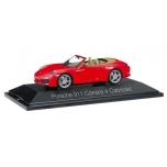 1/43 Porsche 911 Carrera 4 Cabriolet, indisch red Herpa