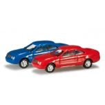 1/160 N-passenger cars set Mercedes-Benz CLK Content: 2 pcs., blue/red  HERPA