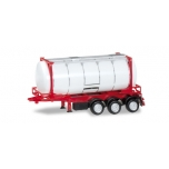 1/87  Containerchassis 26 ft. with swapcontainer, white/red Herpa