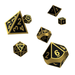 Oakie Doakie Dice RPG Set Metal Dice - Alchemy Gold (7)