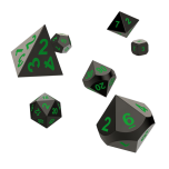 Oakie Doakie Dice RPG Set Metal Dice - Matrix (7)