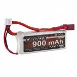 LiPo Aku 2S 7.4V 900 mAh 30C REDOX