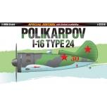 1/48 ACADEMY POLIKARPOV I-16 TYPE 24 LIM. ED.