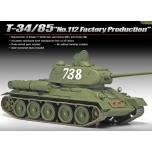 "1/35 ACADEMY T-34-85 ""112 FACTORY PRODUCTION"