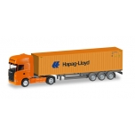 "1/120 Scania R TL container semitrailer ""Hapag Lloyd"" HERPA"