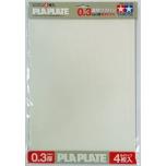 Tamiya läbipaistev PLA plaat 0.3mm B4 4tk