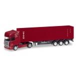 "1/120 Scania R TL container semitrailer ""Jürgen Schmid Transporte / Triton"" HERPA"