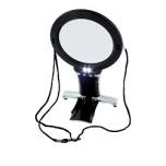 LED valgustusega käed-vabad kaela luup, kahe suurendusega