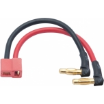 LRP LiPo Hardcase adapter wire - 4mm male plug to US-style plug 90° angle