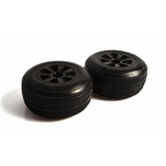 Hazard - 1.9 RC10 front wheel - black (flanged bearing fit)