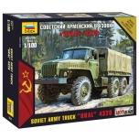 1/100 ZVEZDA URAL 4320 RUSSIAN ARMY TRUCK (SNAP)